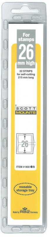Scott/Prinz Strips of 215mm Long Stamp Mount Size: 215x26 Item: #1049 Black