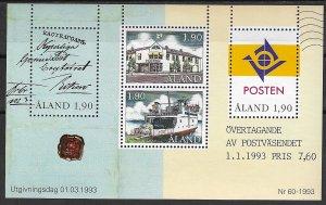 1993 Aland 72 Autonomous Postal Administration MNH S/S