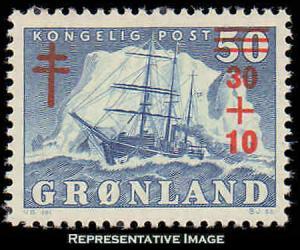 Greenland Scott B1 Mint never hinged.