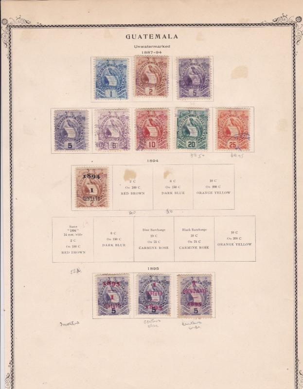 Guatemala Stamps  Ref 15522