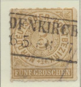 North German Confederation Stamp Scott #6, Used - Free U.S. Shipping, Free Wo...