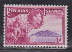 PITCAIRN ISLANDS Scott # 2 MH - KGVI & Bounty With Island