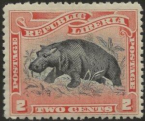 Liberia 1900 2c Yv 52 Mi 56 Mint MH