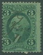 USA SC#R18 Revenue, Washington, 3c, thin, used