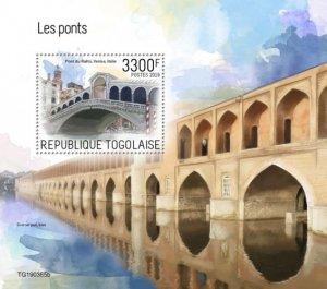 TOGO - 2019 - Bridges - Perf Souv Sheet - MNH