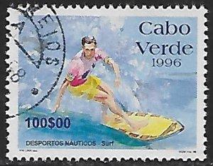 Cape Verde # 708 - Surfer - used....(BRN7)