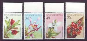 J21859 Jlstamp 1986 png set mnh #651-4 flowers