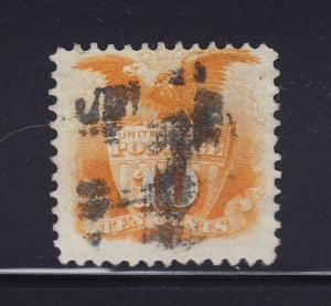 116 F-VF used neat cancel with nice color cv $ 150 ! see pic !