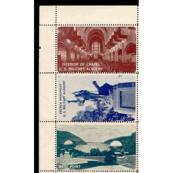 US - MILITARY ACADEMY (WEST POINT) Poster Stamps Sheet