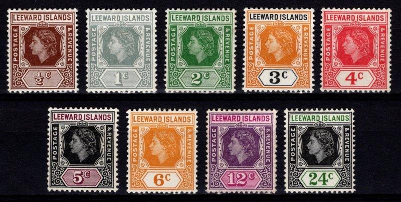 Leeward Islands 1954 Elizabeth II Definitives, part set [Unused]