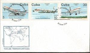 V) 1988 CARIBBEAN, CUBANA AIRLINES TRANSATLANTIC FLIGHTS, BERLIN 1972, LUANDA...