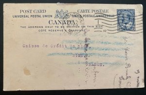 1910 Toronto Canada Postal Stationery Postcard Cover To Nice France