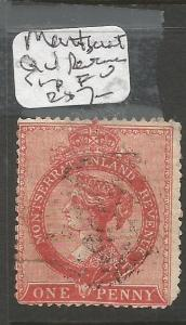 Montserrat QV Revenue stamp FU (2cpd)