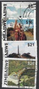 pb3386 Zimbabwe 891-94 used, cv $3.00 bin $1.50