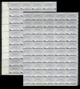 UNITED STATES (50) Complete Sheets Stamps ALL Mint Never Hinged FV=$99+