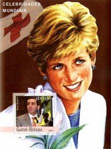 Guinea-Bissau MNH S/S Princess Diana & Kasparov 2003