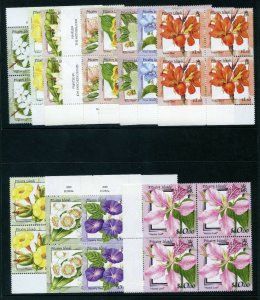 Pitcairn Is 2000 QEII Flowers set complete blocks MNH. SG 564-575. Sc 512-523.