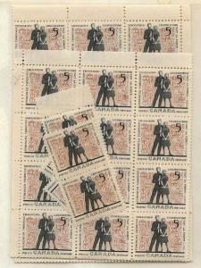 Canada USC #396 Mint x 100 inc.blocks - 1962 5c Education - Students