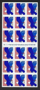 U.S. #2598a EAGLE  BOOKLET PANE MINT, NH AT FACE VALUE!