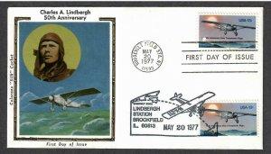 US # 1710 , Lindbergh Dual Postmark Colorano FDC - I Combine S/H