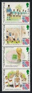 Montserrat World Cup Football Championship USA 4v Strip 1994 MNH SG#936-939