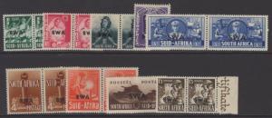 SOUTH WEST AFRICA SG114/22 1941 WAR EFFORT MTD MINT