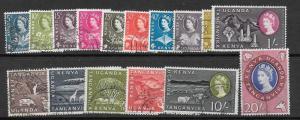 KENYA, UGANDA & TANGANYIKA SG183/98 1960 DEFINITIVES FINE USED
