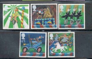 Great Britain Sc 2039-43 2002 Europa Circus stamp set mint NH