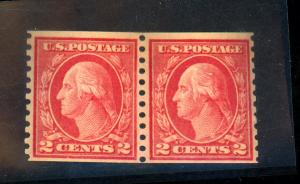 US #453 MINT Pair F-VF OG NH Cat$625
