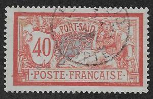 FRENCH OFFICES - PORT SAID SC# 28   FVF/U 1902