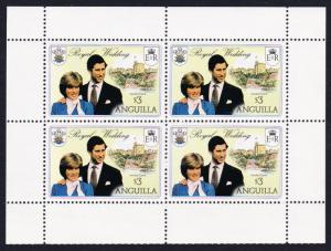 Anguilla Charles and Diana Royal Wedding $3*4 booklet pane SG#469a SC#446c