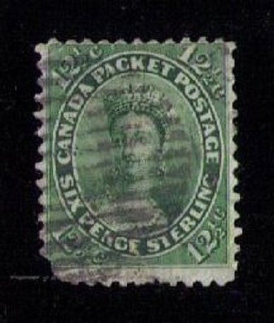 Canada Sc 18 Used Victoria Fault Lower L Perf F-VF Cat. $120.00