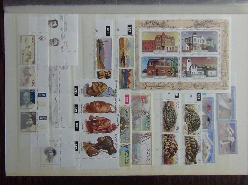 South West Africa 1981-83 Commemorative issues Tortoise Diamonds Mountains  MNH