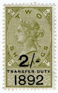 (I.B) QV Revenue : Transfer Duty 2/- (1892)