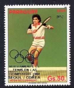 Paraguay C673 Summer Olympics Tennis MNH VF