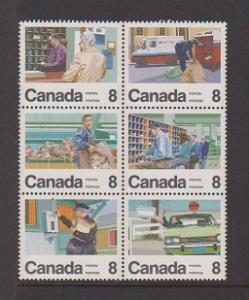 CANADIAN SET ON LETTER CARRIER SERVIC-6 MNH STAMPS  LOT#714