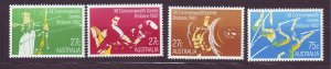 J23496 JLstamps 1982 australia set mnh #842-5 sports