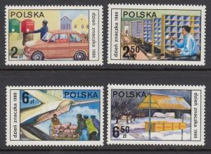 Poland 2419-22 Post Office mnh
