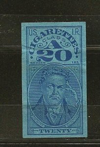 USA USIR Series 125 Cigarettes Class A20 II Stamp Used