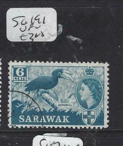 SARAWAK  (P2704B)  QEII   6C  BIRD  SG 191   VFU