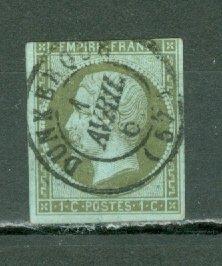 FRANCE 1860 NAPOLEON #12...NO THINS NICE CANCELLATION