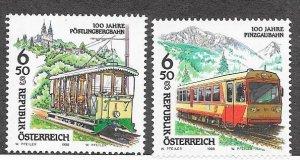 Austria #1758-1759   Trains (MNH) CV $2.50