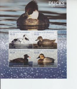 2016 St Vincent Caribbean Ducks MS4 (Scott 4020)
