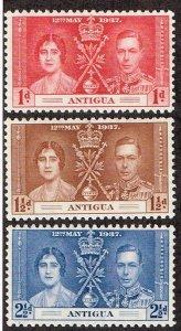Antigua # 81 - 83 MNH