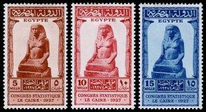 Egypt Scott 150-152 (1927) Mint H VF Complete Set, CV $6.75 C