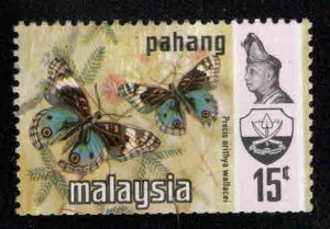Malaysia - Pahang Scott 95 Used Butterfly stamp