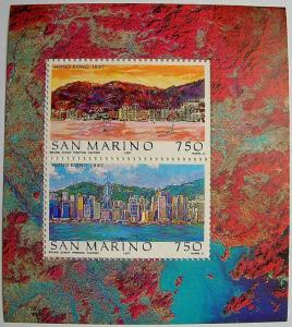 1997 Hong Kong MNH Miniature Sheet from San Marino