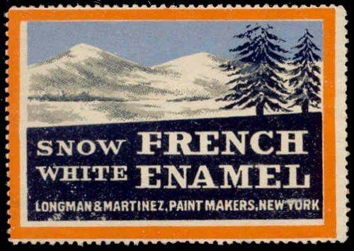 Snow White French Enamel Advertising Poster Stamp