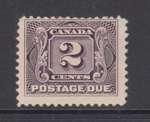 Canada Sc J2 MLH. 1906 2c violet Postage Due