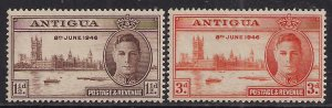Antigua 1946 KGV1 Set of Victory MM  SG 110 -111 ( J469 )